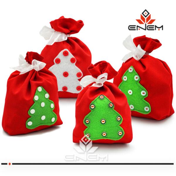 Мешочек для подарков новорічна упаковка